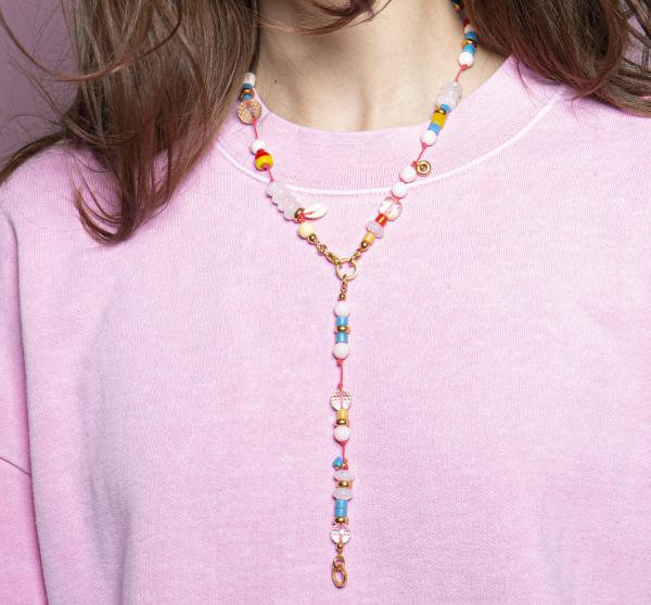 Halskette wonderworld rosequarz
