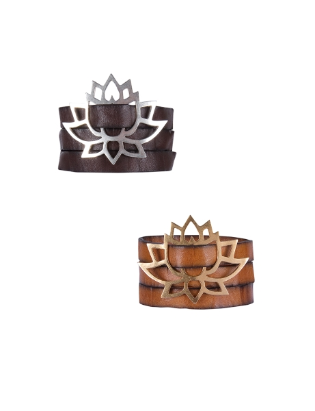 Wickelarmband Lotus