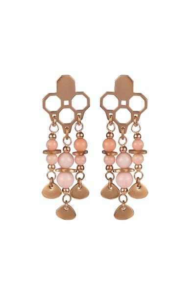 Earrings Oasis Coral