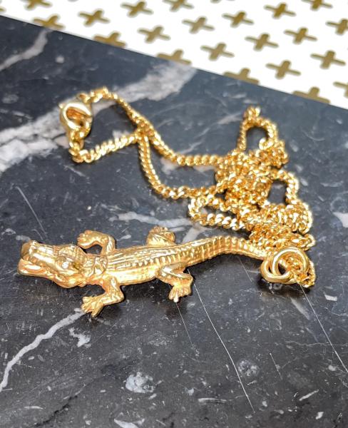 Halskette Crocodile