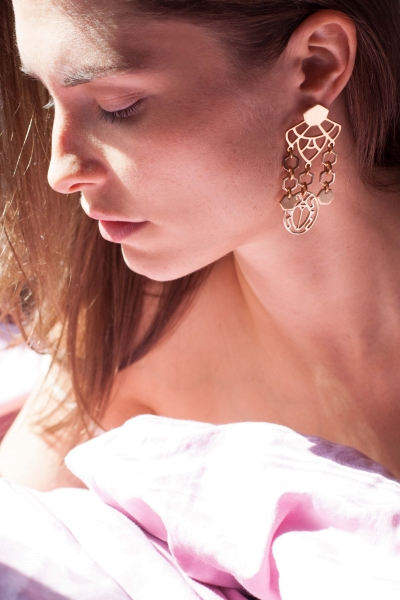 Earrings - scarabeus in good company -