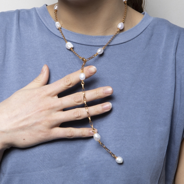 Halskette Pearldrop